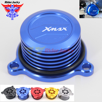 For Yamaha X MAX 125 250 300 400 2017 2018 XMAX Motorcycle water oil fuel filter tank cooling radiating cover cap