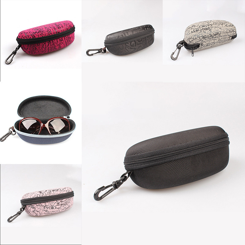 4 Colors Eyewear Cases Protector New Sunglasses Dedicated Compression Spectacle Case Sunglasses Hook Zipper Box