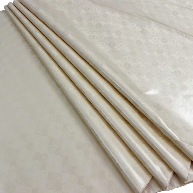 Atiku tessuto per gli uomini champagne oro bazin brode getzner bianco dashiki tessuto bacino riche getzner 100% cotone tessuto 5 yard /set