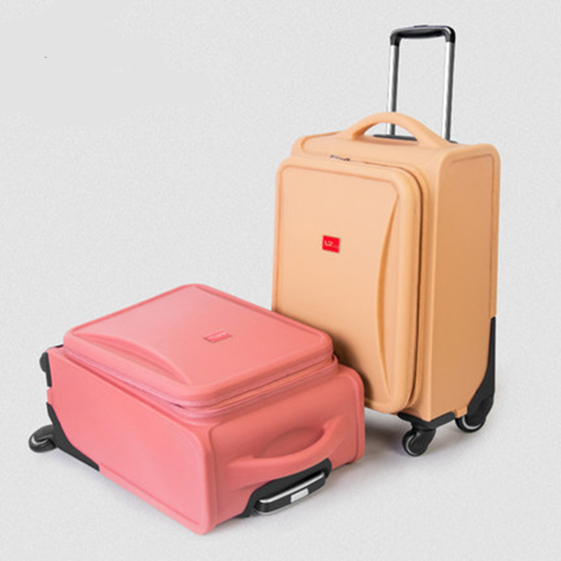 Vintage Rolling Luggage Spinner Trolley Scratch-resistant Suitcase Wheel Travel bag 21 inch Men Password Cabin Trunk vintage suitcase 20 26 pu leather travel suitcase scratch resistant rolling luggage bags suitcase with tsa lock