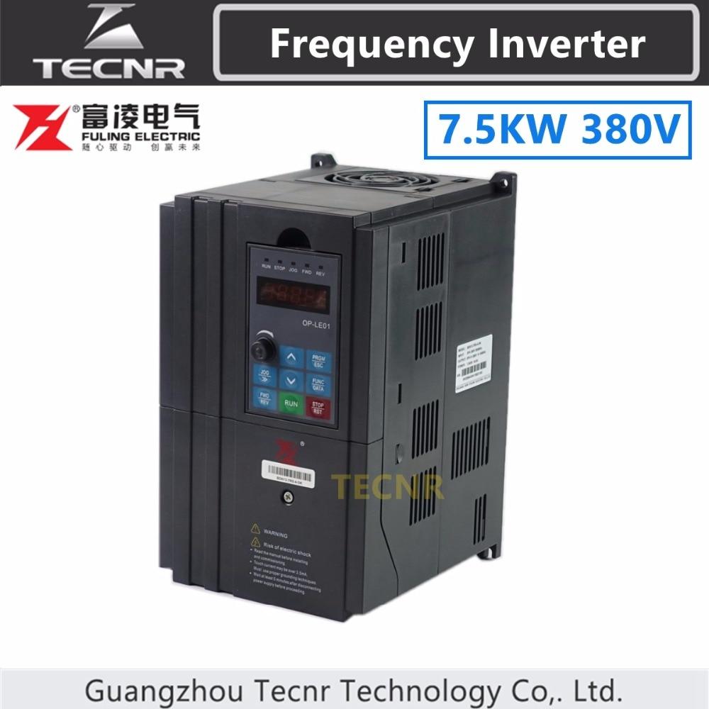 7 5KW Frequency Converter Inverter For 6KW 7 5KW 380V Cnc Spindle Motor FULING Brand