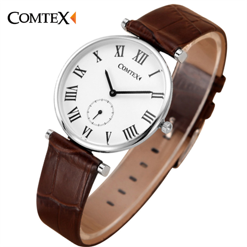 2017 Comtex Watch Women Watches Leather simple Dial wristwatch Luxury Casual Lovers lady clock Relogio Feminino Quartz Watch fashion leather watches for women analog watches elegant casual major wristwatch clock small dial mini hot sale wholesale