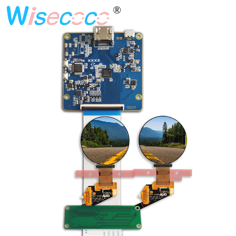 WISECOCO 1 39 micro OLED screen MIPI display 400*400 round