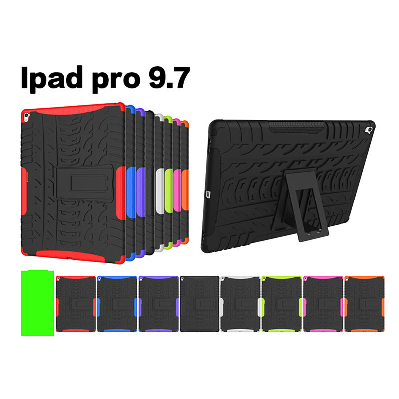 KEFO For Apple iPad Pro 9.7 Retina Kids Safe Armor Shockproof Heavy Duty Silicone Hard Case Cover w/Screen Protector Film KF436A