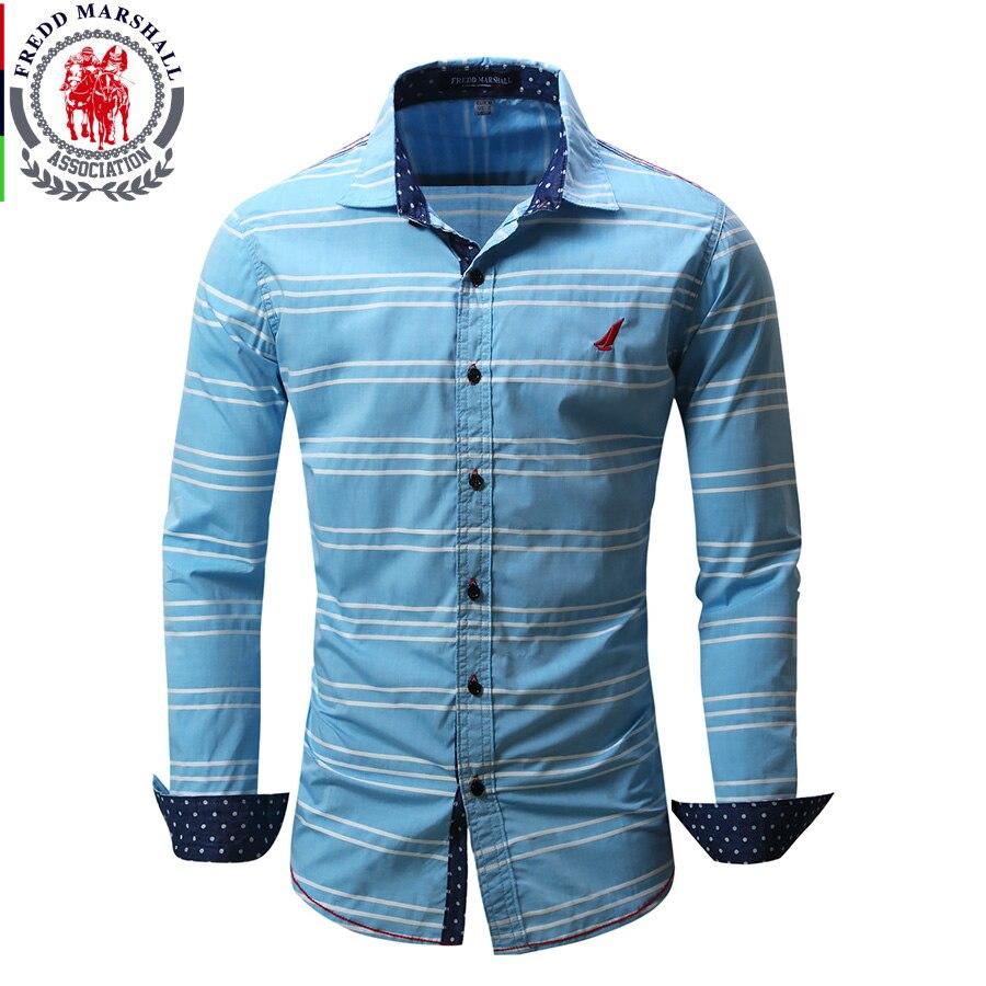 2017 new fashon stripe shirt men jeans printed long sleeve for Mens printed long sleeve shirts