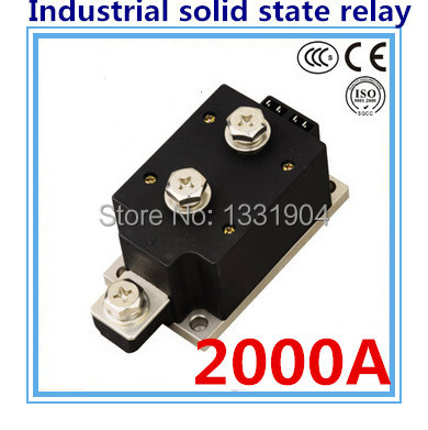LED indicator DC to AC SSR-H2000ZF 2000A SSR relay input DC 3-32V output AC1200V industrial solid state relay wsfs wholesale 2 x heat sink input 3 32v dc output 5a 200v dc pcb mount ssr solid state relay