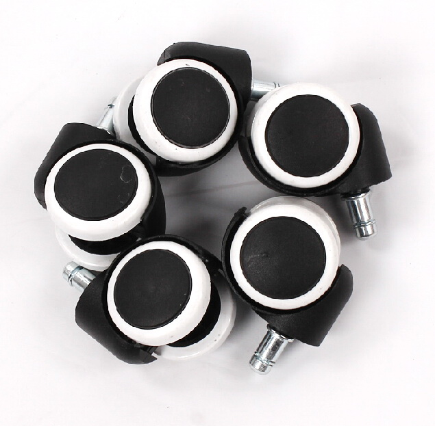 set of 5pcs replacement office chair swivel casters rubber rolling rollers wheels d2008 - Rolling Chair