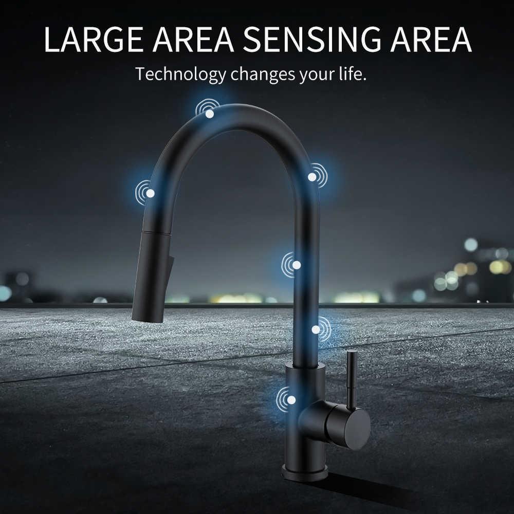 Smart Touch Keuken Kranen Kraan Voor Sensor Keuken Water Tap Sink Mixer Draaien Touch Kraan Sensor Water Mixer KH-1005