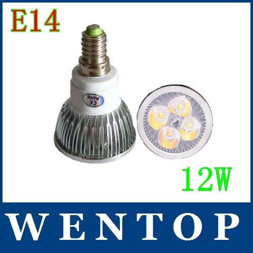 E14 12 Вт 4 x 3 Вт CE Rohs теплый холодный белый 960LM высокой мощности из светодиодов освещения места 80 Вт 220 В 110 В 240 В