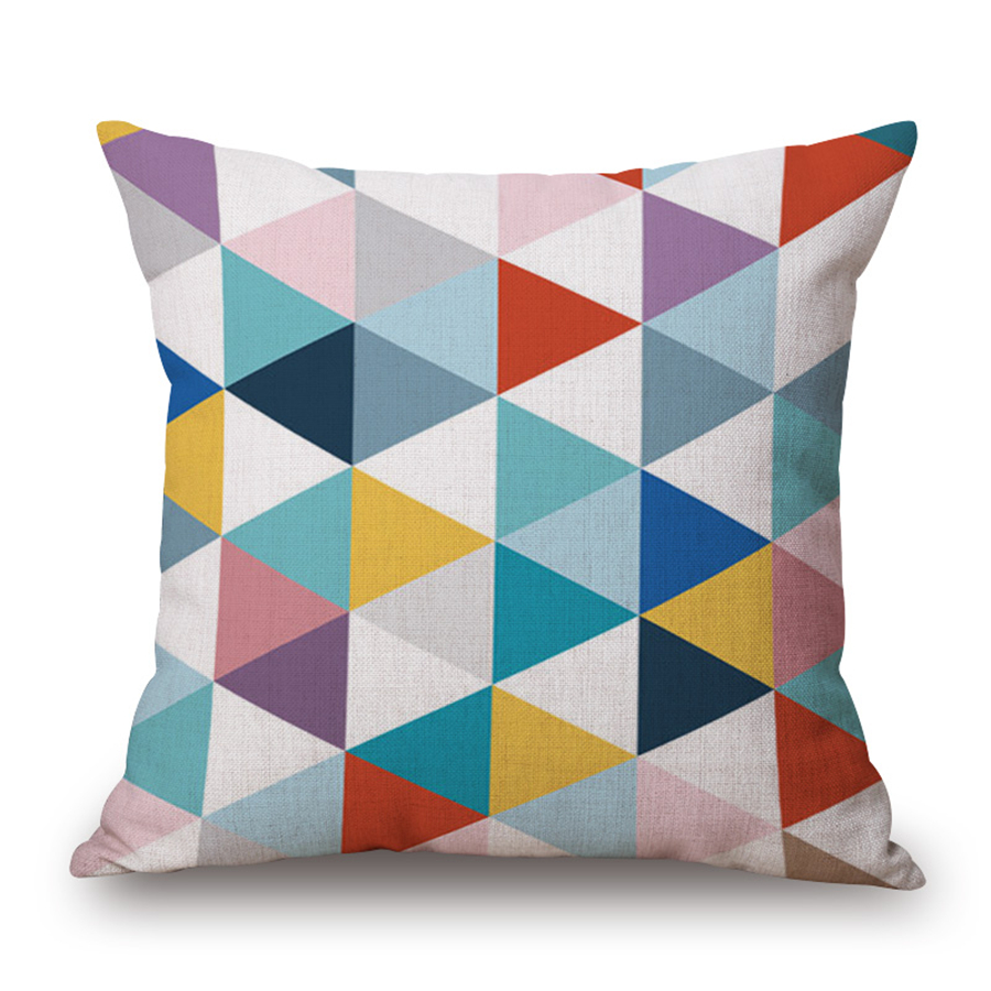 Colorful Letter Geometric Decorative Cushion Cover Velvet Square 45x45cm Home Decor Office Chair Sofa Stripe Pillow Case e1400 in Cushion Cover from Home Garden