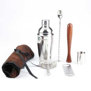 Image 2 - 7PCS/set Stainless Steel Cocktail Shaker 550ML 750ML Cocktail Whisk Bar Tools Martini Wine Shaker Cocktail Shaker Tools