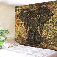 Elephant Animal Square Hot Mandala Wall Hanging Tapestry Indian Mandala Tapestry For Home Decor Boho Yoga Mat Large