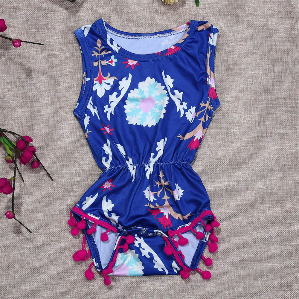 0-2 Years Newborn Baby Romper Infant Girls Clothes Summer Baby Jumpsuits Toddler Girl Sleeveless Rompers 2019 Babies Outfit