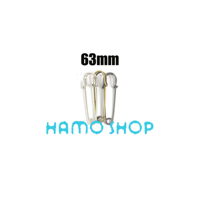 Free Shipping 20pcs/lot 63mm Metal Large Safety Brooch Pins Fastening Jewellery Sewing Clothes Mix Color