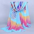 Завод прямого женщин Vintage cachecol Мода Марка desigual шарф платок Женщины шифон шарфы 2016 женщин бабочка печати W142