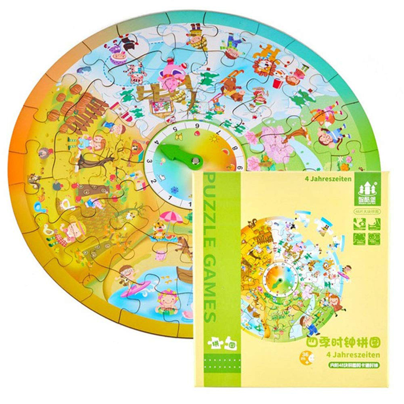 Creative Clock Puzzle Games Early Learning Education Toys For Children Intelligence Development Puzzle Popular Toys