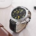 Новая мода OUYAWEI, роскошные брендовые автоматические механические мужские часы, мужские наручные часы с кожаным ремешком, повседневные анал...
