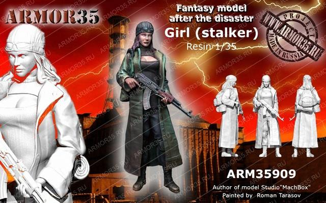 1 35 Dziewczyna (stalker) tanie tanio Modelu Unisex Wojskowy Żywica Półprodukty produkt Montaż Żołnierz części i podzespoły elektroniczne 14 lat 1 35
