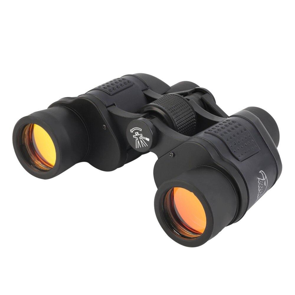 8,2 grados 60*60 3000 m alta definición prismáticos caza al aire libre Camping telescopio HD telescopio visión binoculo