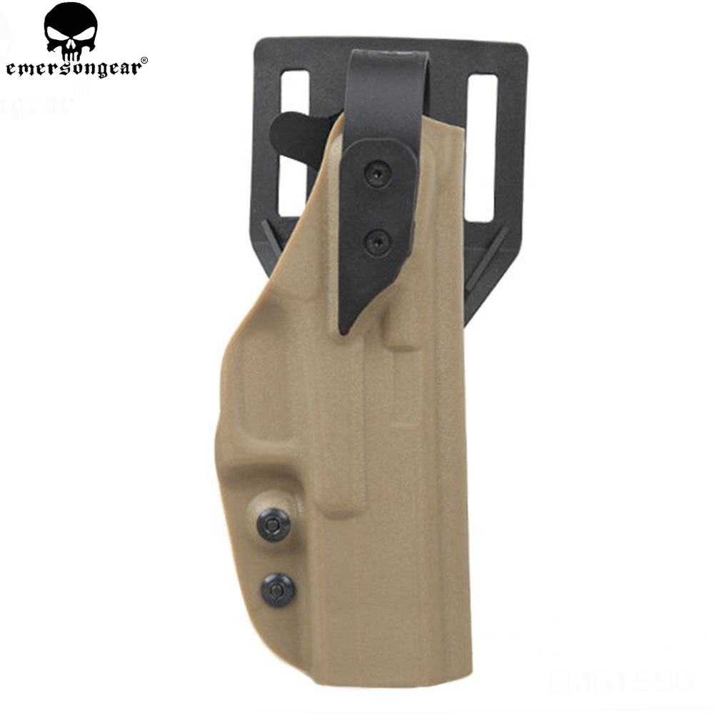 EMERSON Tactical Handgun Holster For Glock Airsoft Multicam Gun Pouch Plastic Holderemerson'gear XST Style Standard Holster emerson safariland tactical dropleg holster for beretta m92 airsoft with flashlight holster bd2293