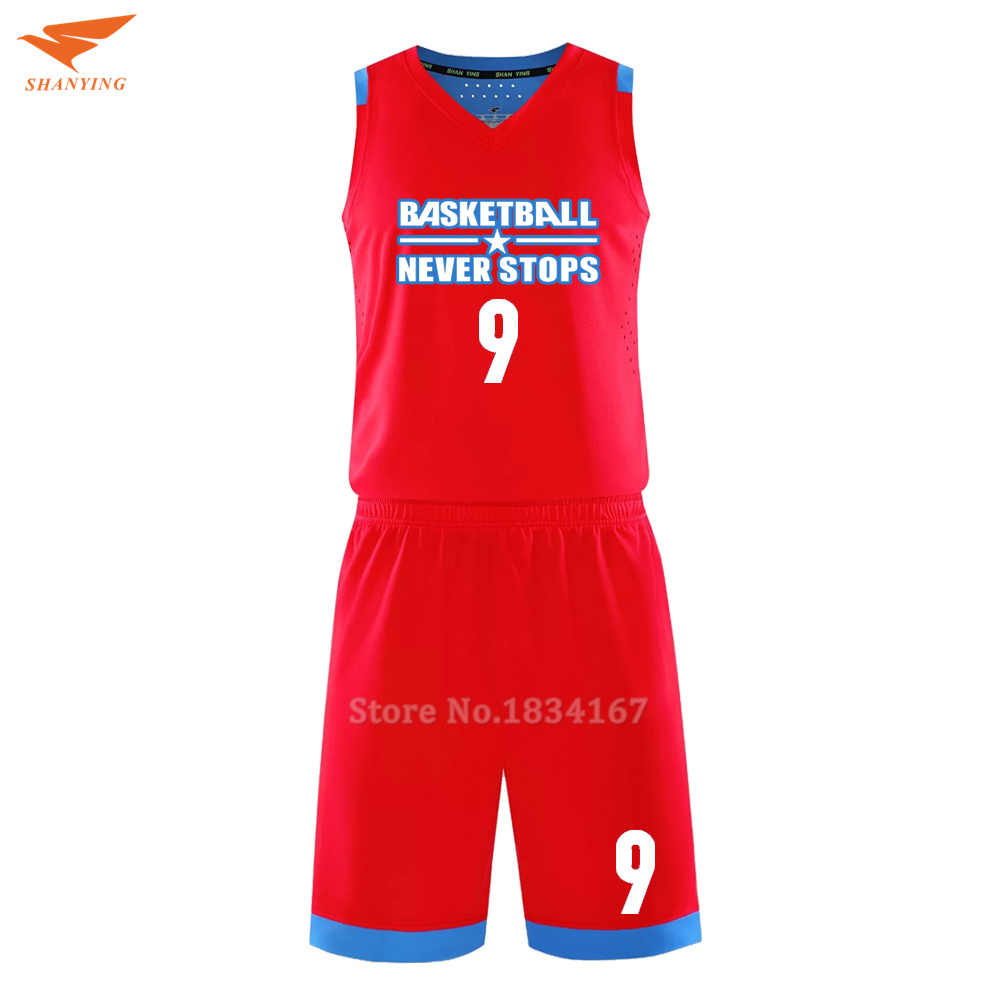 Hoge kwaliteit blanco goedkopere throwback basketbal jerseys mens custom college basketbal kits ademende uniform volwassen sets 2017