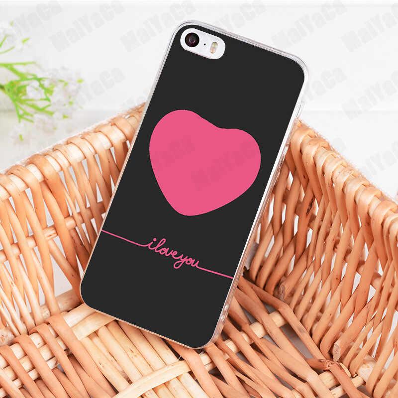 MaiYaCa kpop dessin coeur je t'aime tirer crochet nouvelle Coque de téléphone pour iphone 11 Pro 8 7 6 6S Plus X 10 XS XR 4S Coque