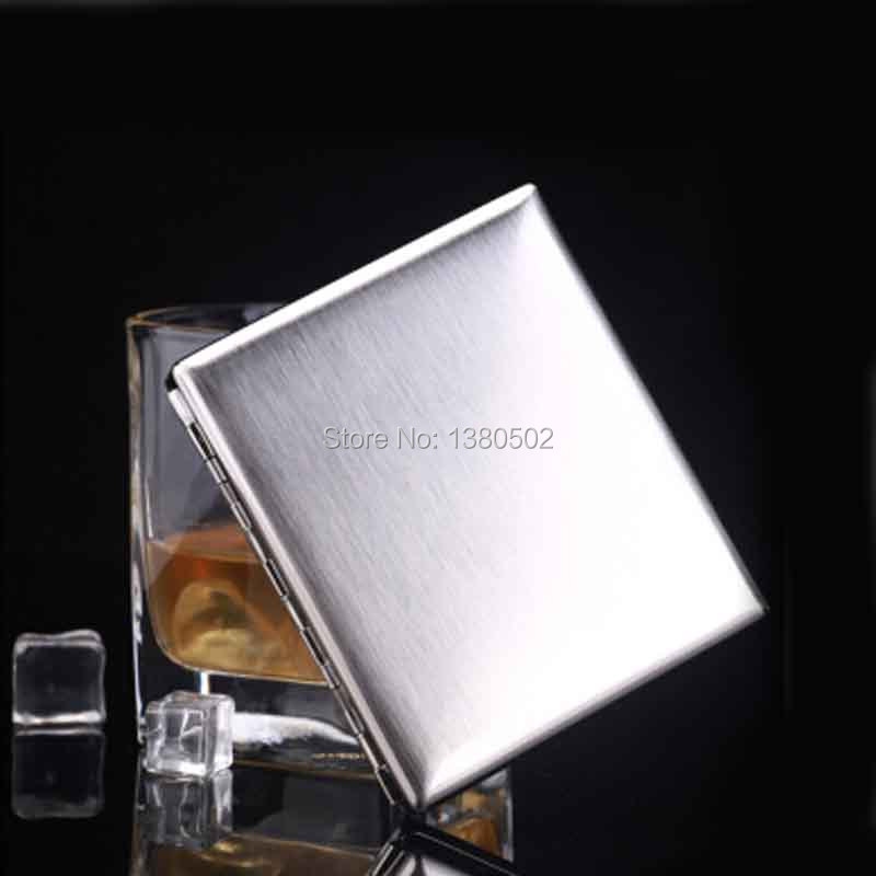 Fashion Top Grade  Cigarette Case Stainless Steel Tobacco Case Box Smoking accessories