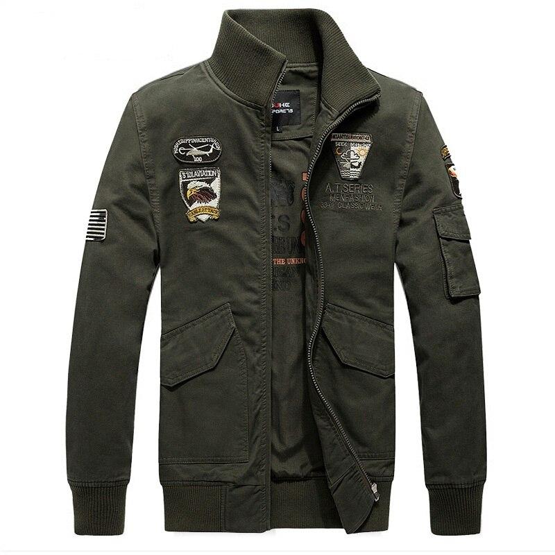 2018 Berühmte Marke Kleidung Männer Jacke Militär Plus Soldat Baumwolle Air Force One Männer Kleidung Frühling Herbst Jacken Jaqueta Moderater Preis