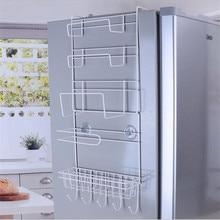 Estante de espacio ajustable soporte de pared lateral espacio de especias grieta Almacenamiento de nevera organizador de cocina