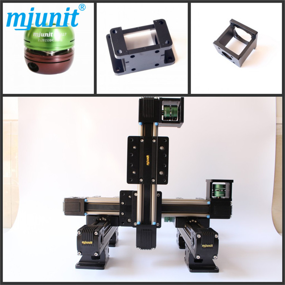 MJUNIT motorized Stepper Motor Positioning linear stage xyz position linear rail Belt driven linear slide belt driven linear slide rail belt drive guideway professional manufacturer of actuator system axis positioning