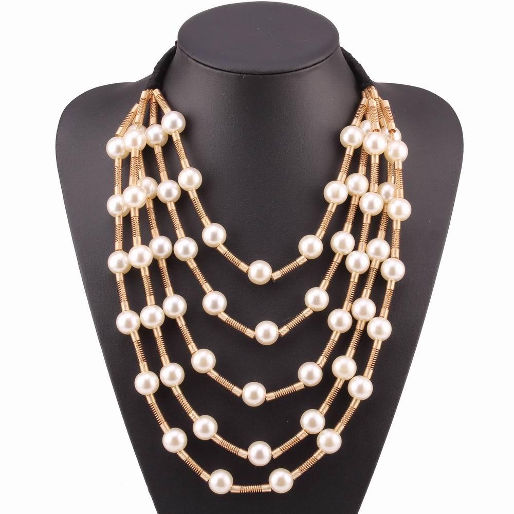 Women Fashion Jewelry Pendant Choker Chunky Statement Chain Bib Lace Necklac