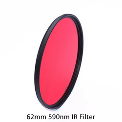 62mm 590nm Infrared IR Optical Grade R59 Filter for Camera Lens