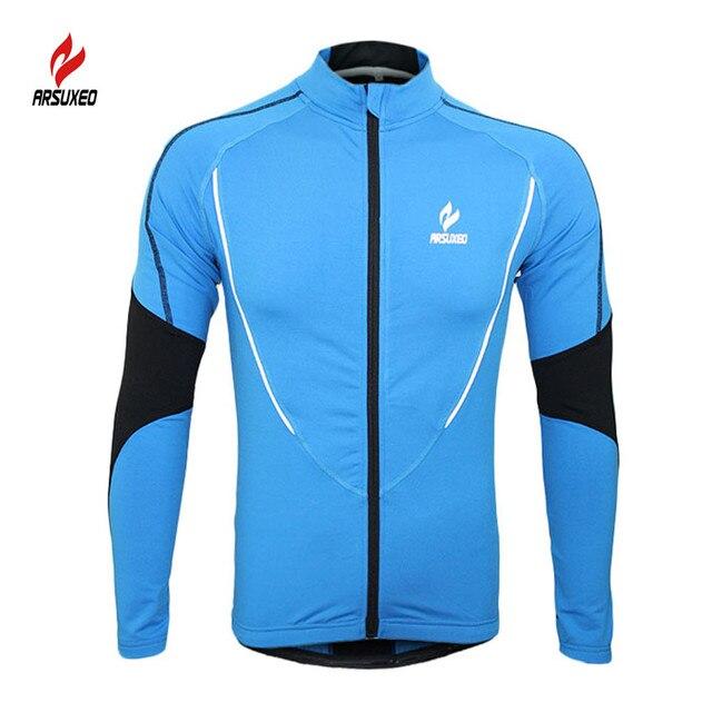 bd34a314cc2a6 M-XXL Autumn Men Women Cycling Jerseys Warm Fleece Outdoor Sport Riding  Jackets Bike Breathable