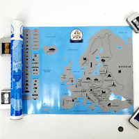 New arrival Creative Scratch Europe Map DIY Art Paper Travel Vacation Personal Mark Wall Decoration Gift 55