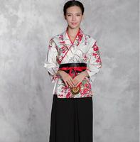 Japanese cuisine Woman Restaurant waitress uniforms Kimono Chef uniform