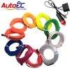 TRICOLOUR 1x 1m 3m 5m Flexible Neon Light Glow El Wire Rope Strip Wire Flat Led