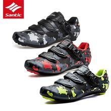 цены Santic 2018 Men Pro Road Cycling Shoes PU Breathable  Road Bike Shoes Auto-locking Athletic Racing Bicycle Shoes Cycling Equipme