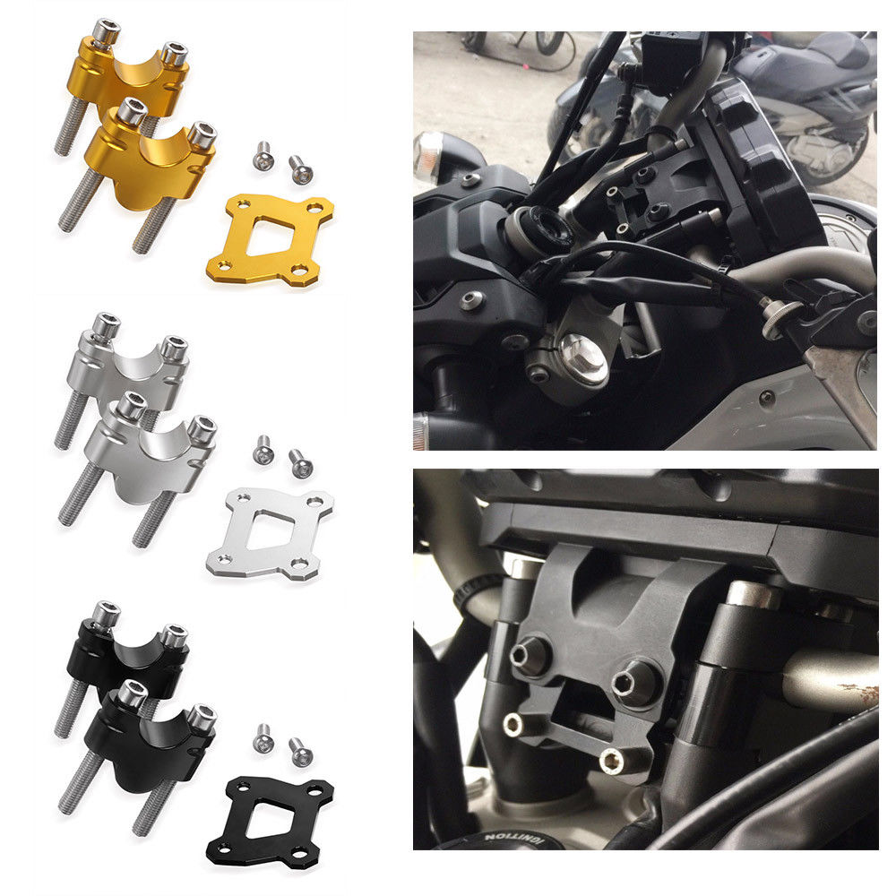 CNC Aluminum MT 07 FZ 07 Handlebar Mount Raiser 25mm Up for Yamaha MT-07 FZ-07 Moto Cage MT07 FZ07 XSR700 Tracer 700 2014-2017 empress double crown rca interconnect audio cable with original box hifi rca audio cable extension cable