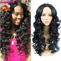 Freetress Hair Goldway Perruque Cheveux Synthetic Long Black Wavy Hair Wig Box Braid Wig Cheap Wigs Synthetic for Black Women