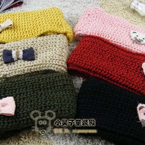 Male female child yarn scarf muffler baby child winter thermal knitted scarf