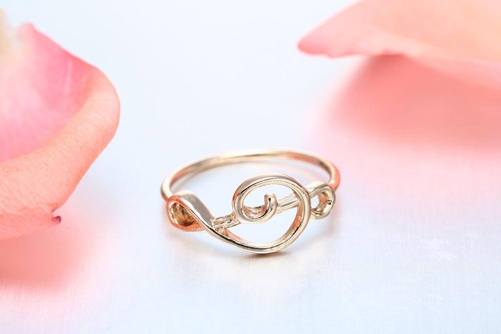 Gold Violinschlüssel Ring