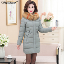 2019 New Winter Collection Brand Fashion Thick Women Bio Down Jackets Hooded Fur Collar Parkas Coats Plus Size 5XL