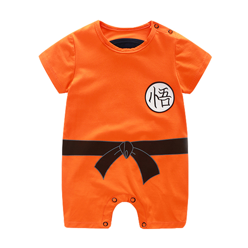 Dragon Ball Baby Rompers Newborn Baby Boys Clothes SON GOKU Toddler Jumpsuit Bebes Halloween Costumes For Baby Boy Girl Clothing baby rompers cotton long sleeve 0 24m baby clothing for newborn baby captain clothes boys clothes ropa bebes jumpsuit custume