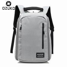 OZUKO Brand Design 2018 New Fashion Men Anti-thief Backpacks Waterproof Laptop Mochila Casual Travel Packsack Student School Bag
