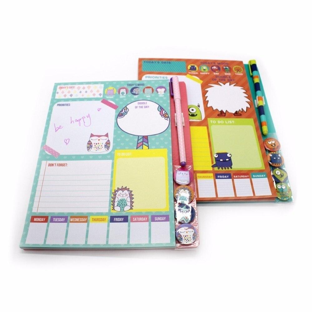 Pocket Notebook 4 Magneet Small Clean Leuk meisje Portable Notes - Notitieblokken en schrijfblokken bedrukken - Foto 5