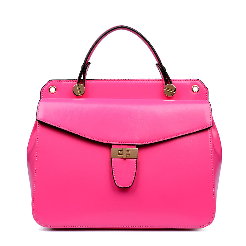 Women Envelope Shoulder Bags 2017 Hot Women Tote Bags PU Leather Fashion Bag Elegant Preppy Style Lady Handbags Hot Pink ST9340
