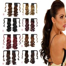 Hot New Real New Clip In Human Hair Extension Curly Pony Tail Wrap Around Ponytail Oct 27