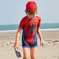 Children's Swimwear Baby Boy Swimsuit For Kids Bikini Bathing Suit 2019 Chosen Yards Spider Man Surfing 1 5 Meters Polyester