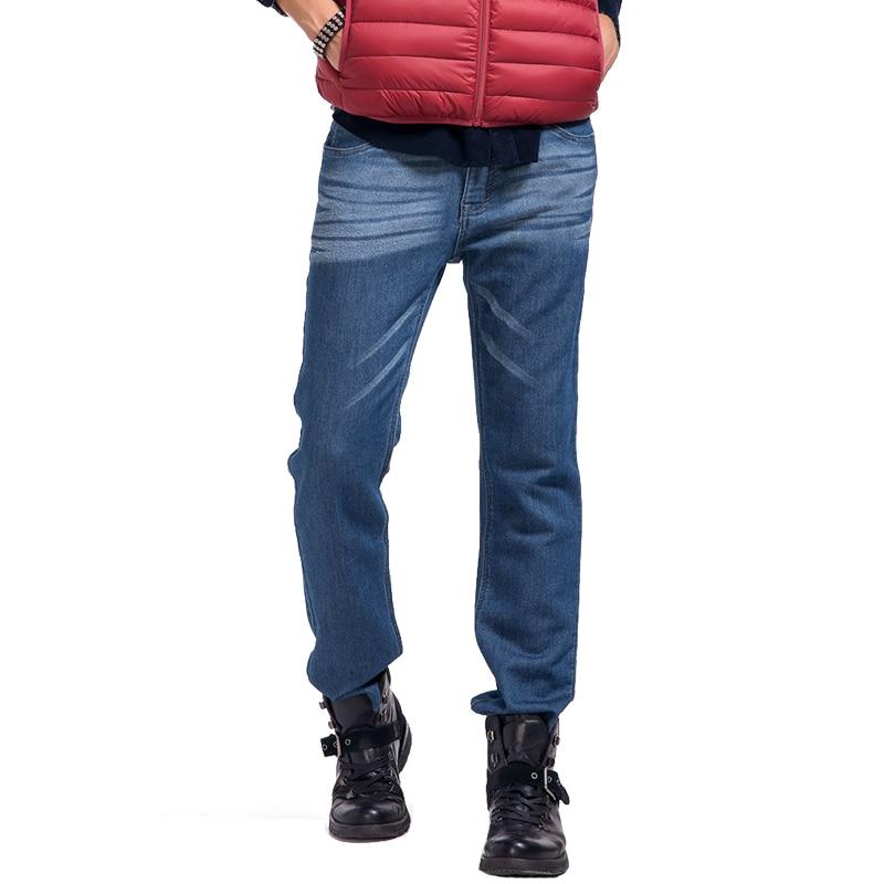 ФОТО Lesmart Men's Business Fashion Casual Washing Solid Straight Jeans Ventilate Slim Fit Long Denim Pants Leisure Work Trousers