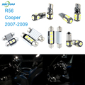 XIEYOU 9pcs LED Canbus Interior Lights Kit Package For Cooper R56 (2007-2009)